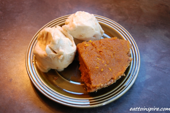 Pumpkin Pie and Banana Ice Cream