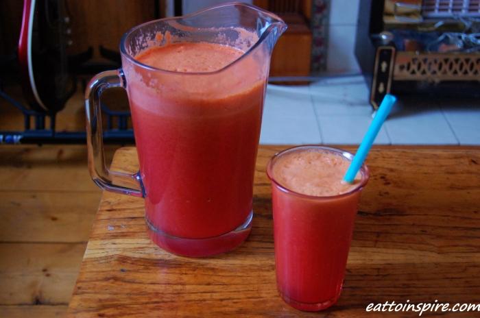 blood apple juice