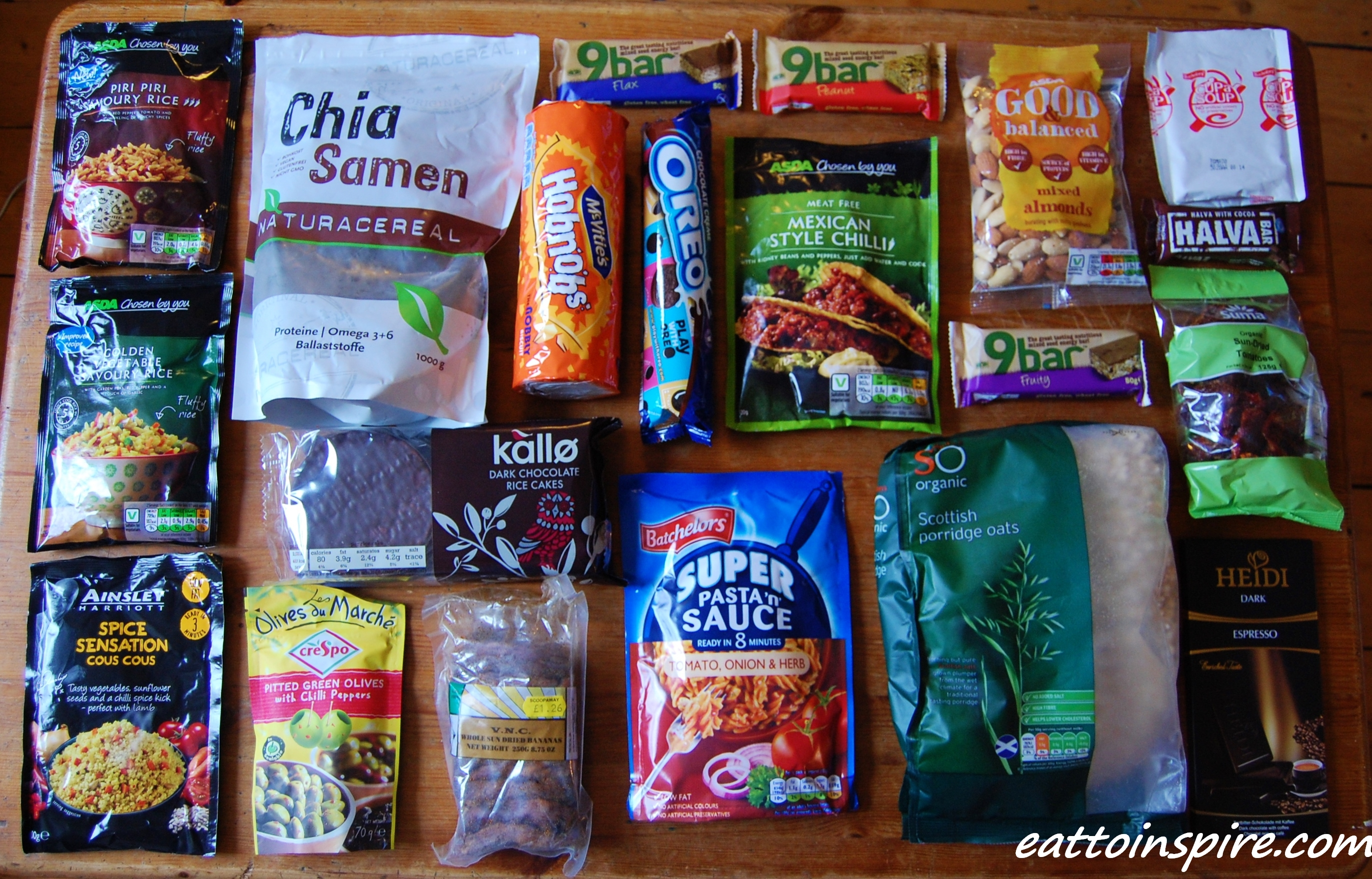 Camping And Hiking Food