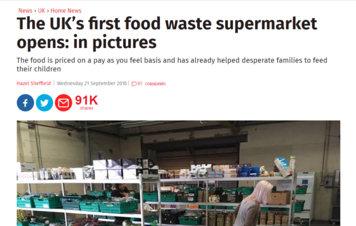 food waste supermarket